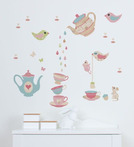 Woodland tea party woodland wall stickers wall stickers wall decor tinyme
