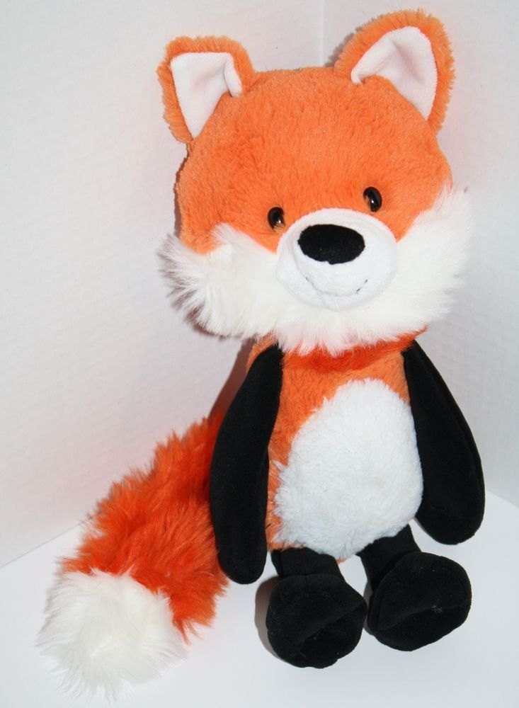 Target Circo Fox Orange White Black Plush Stuffed Animal Floppy Arms
