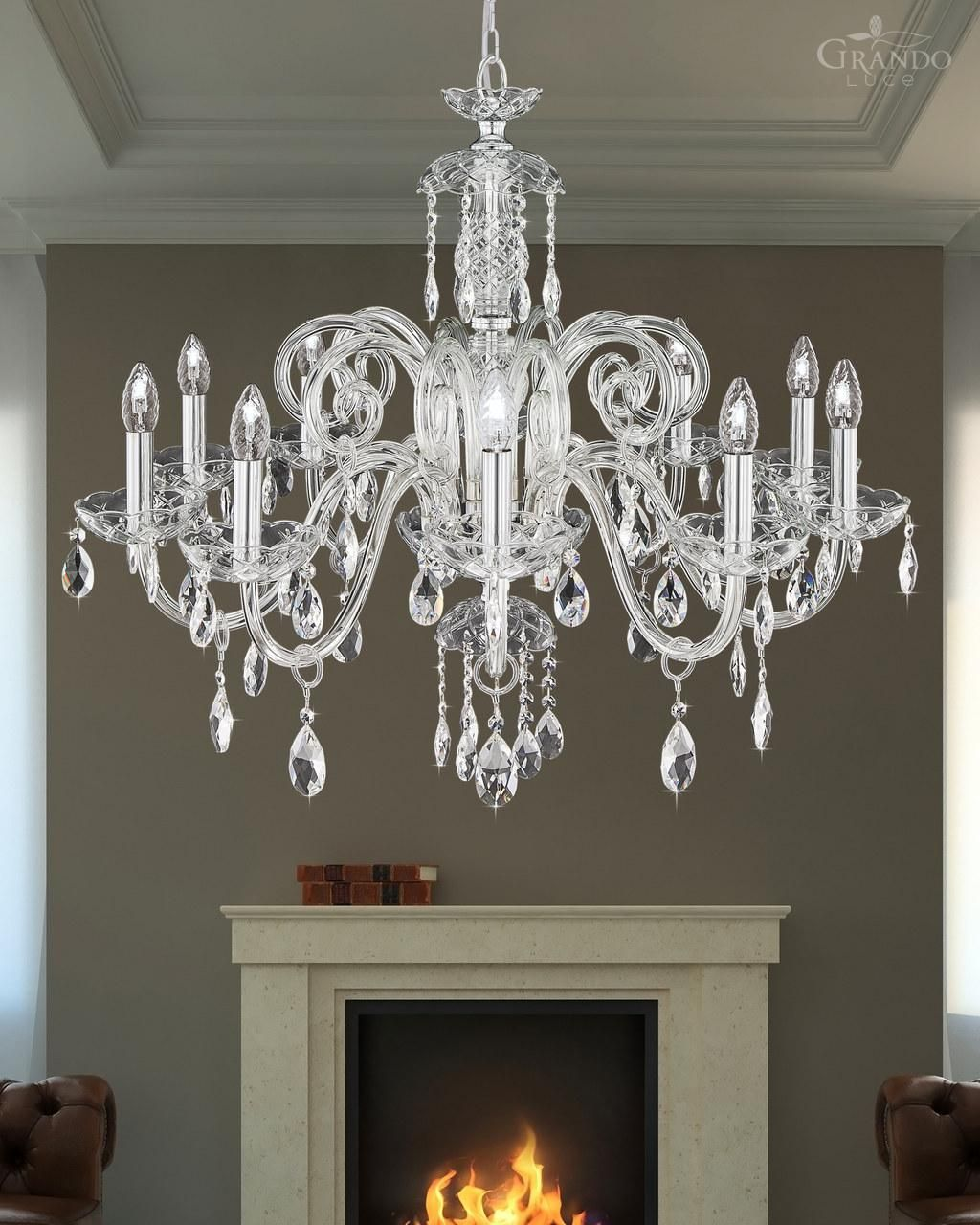 10610 ch chrome crystal chandelier decorated with swarovski 10610 ch chrome crystal chandelier decorated with swarovski spectra crystal grandoluce arubaitofo Gallery
