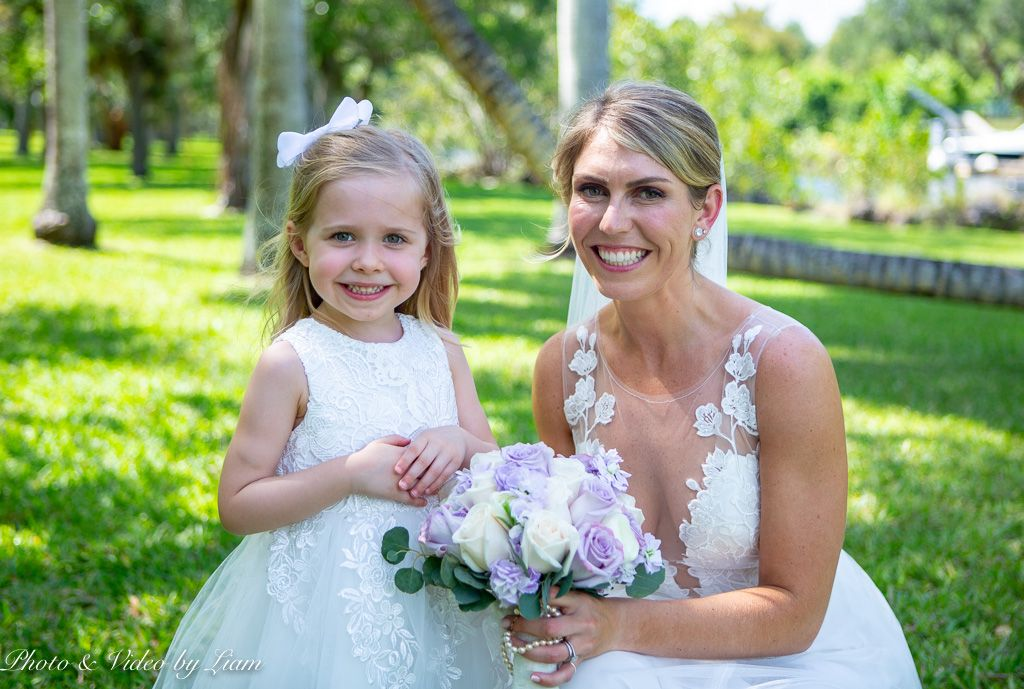 Cutest Photo Ever from Lorenz & Kelsey Wedding Miami