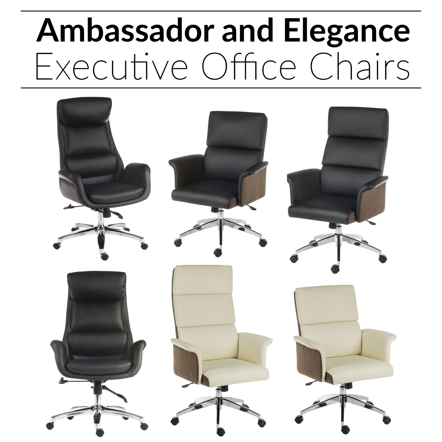 Ambassador and Elegance Executive Office Chairs (With