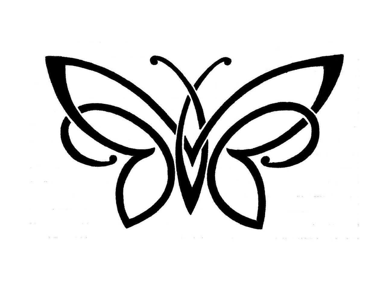 viewing gallery for simple rose designs butterfly designs pinterest white butterfly. Black Bedroom Furniture Sets. Home Design Ideas