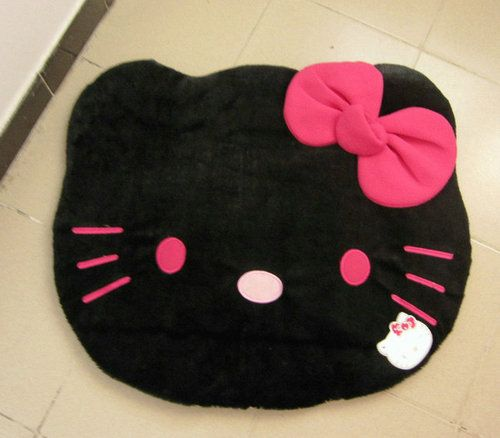 HelloKitty Black Bowknot Carpet Soft Hello Kitty Rug New | EBay