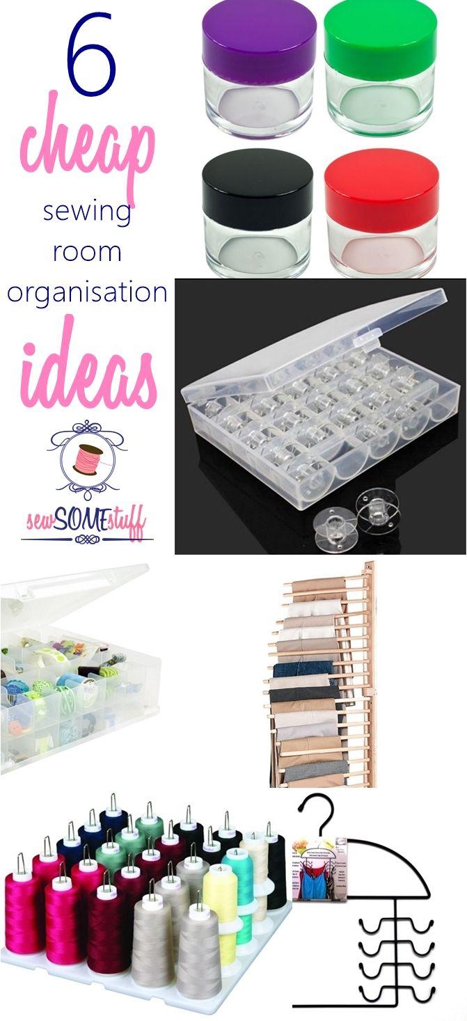 Organiseer naaien leveringen.  Goedkope naaiatelier organisatie ideeën.  naaiatelier organisatie op een begroting.  Naaien berging ideeën.