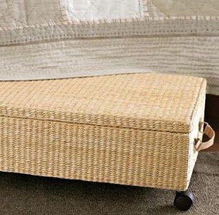 Under Bed Storage Basket On Wheels Under Bed Storage Bed Storage Storage Baskets