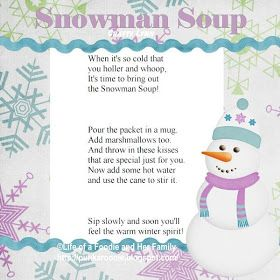 Life of a Foodie and Her Family: Snowman Soup 2011