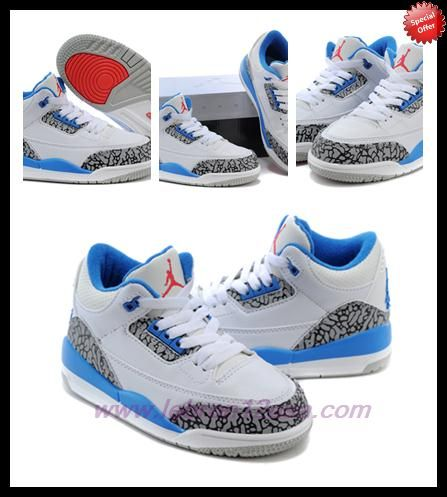 84779677df13 Deals On AIR JORDAN 3 RETRO White True Blue True Blue 006064-141 ...