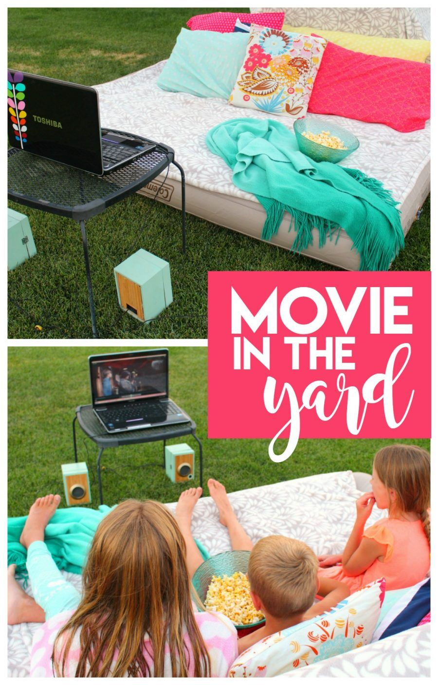 Movie in the yard with 60 of our favorite family movies