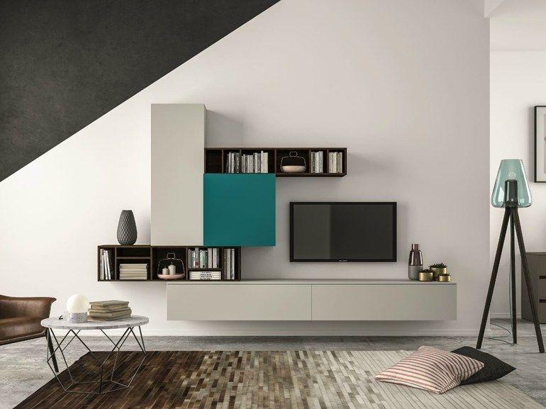 Mueble modular de pared composable SLIM 101 Colección Slim by Dall - muebles de pared