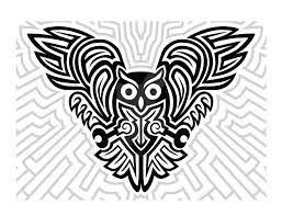 Celtic animal art - owl