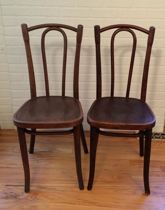Vintage Pair Of Bentwood Chairs Made In Poland Sale Bentwood Chairs Chair Cafe Chairs