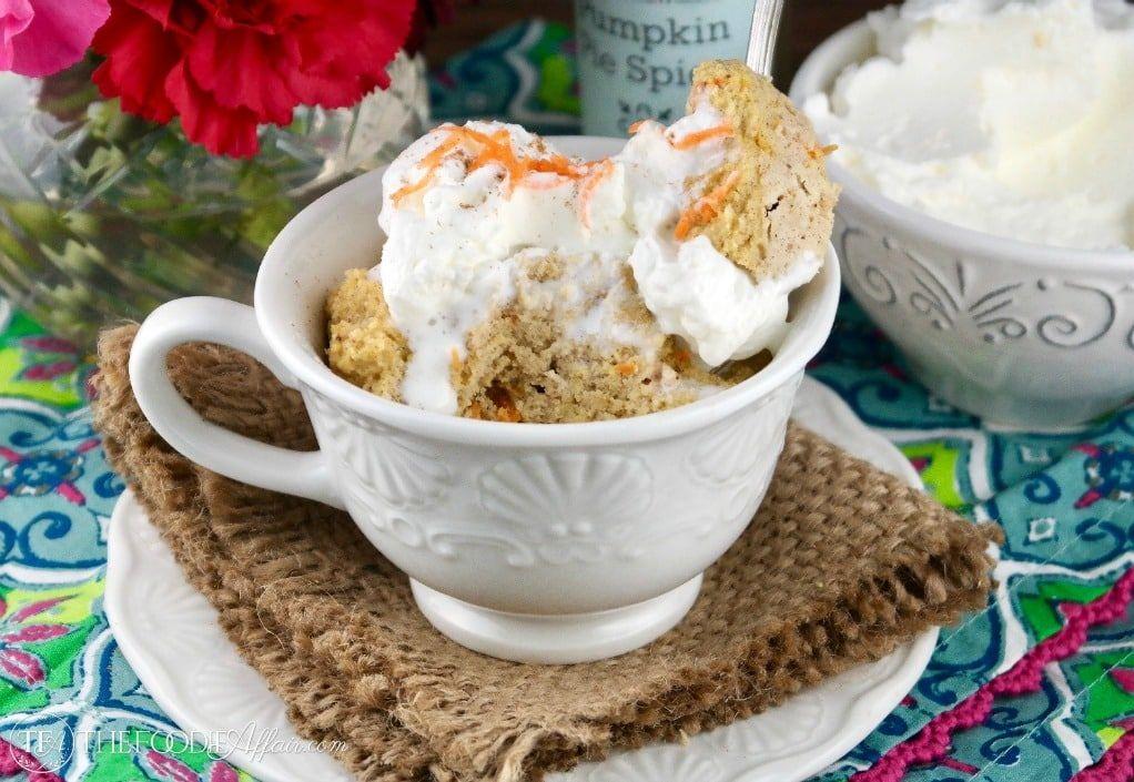 Low Carb Mug Cake (Mini Carrot Cake) | Recipe | Low carb ...