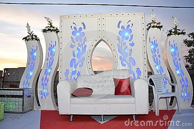 White Sofa And Gates On Stage For The Wedding - Download From Over 57 Million High Quality Stock Photos, Images, Vectors. Sign up for FREE today. Image: 71349975