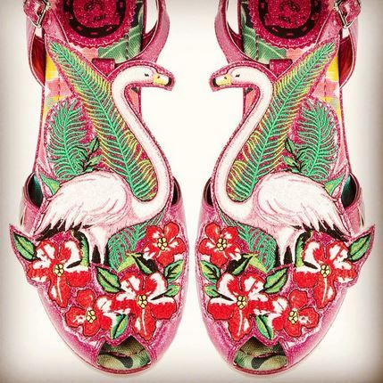 05c74757f33 These Miss L Fire Flamingo sandals are a go go  heartline x