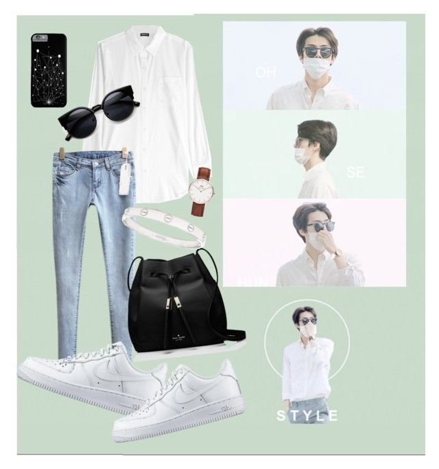 """OHstyle #01"" by marshazani ❤ liked on Polyvore featuring DKNY, Daniel Wellington, Kate Spade, NIKE, Cartier, women's clothing, women, female, woman and misses"