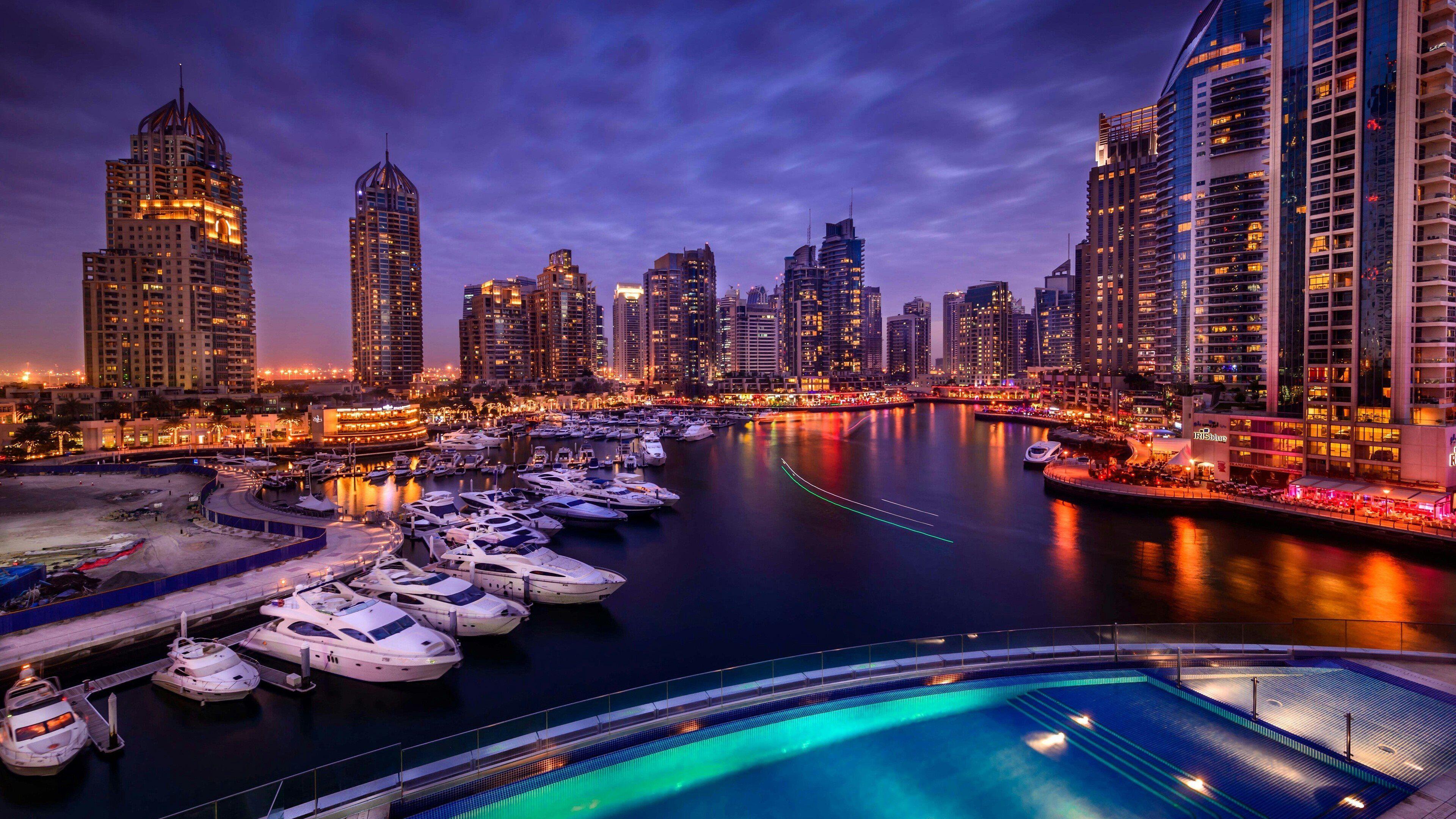 最高の壁紙 ベストセレクション 4k 壁紙 夜景 近代ビル 超高層ビル ドバイ