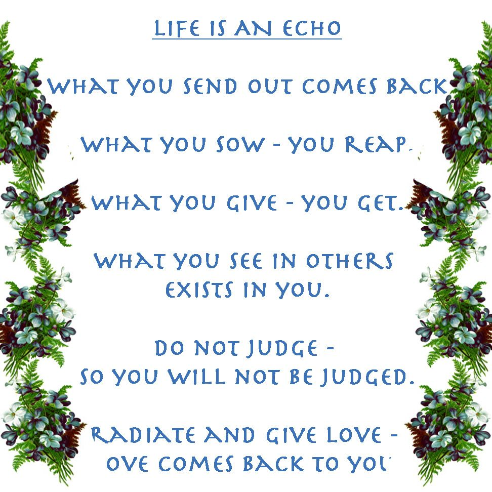 Life Is An Echo Quote Life Is An Echo  Prayers Quotes And Affirmations  Pinterest