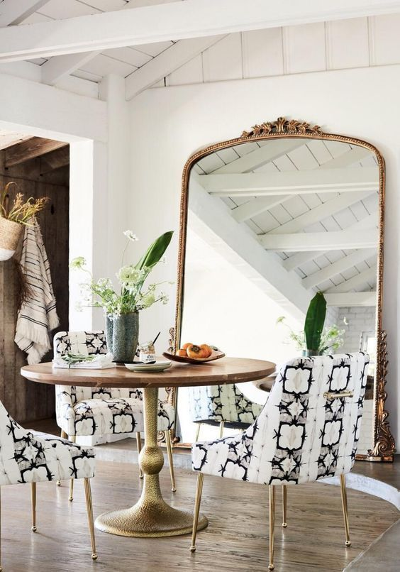 love the giant antique gold frame floor mirror