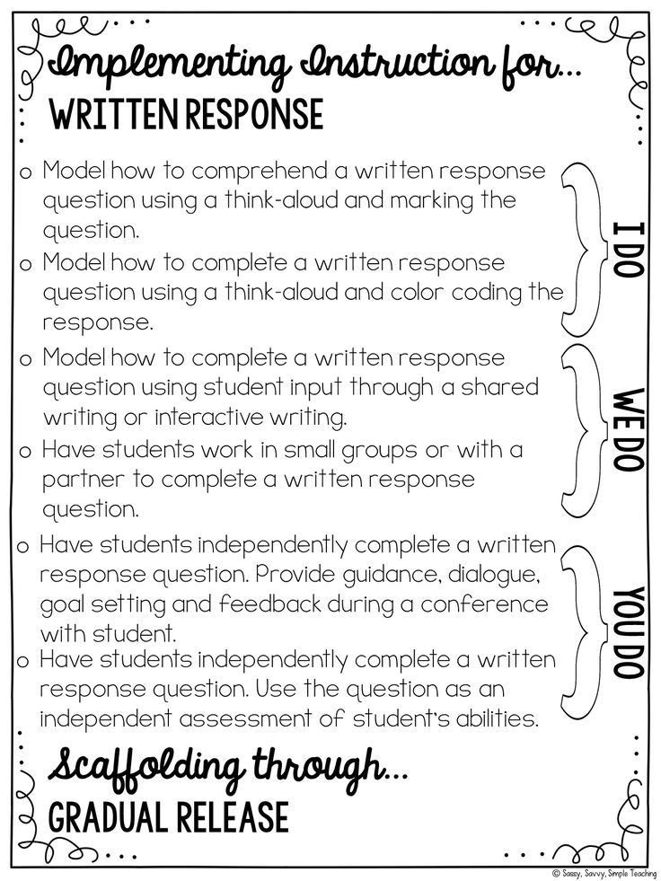Improving Written Comprehension and Responses! [+ 2