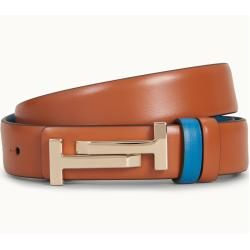 Photo of Tod's – leather belt, light blue, brown, 90 – Belts Tod'sTod's
