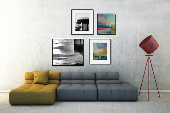 Abstract Wall Decor Set, Large Abstract Art Print Set, Printable ...