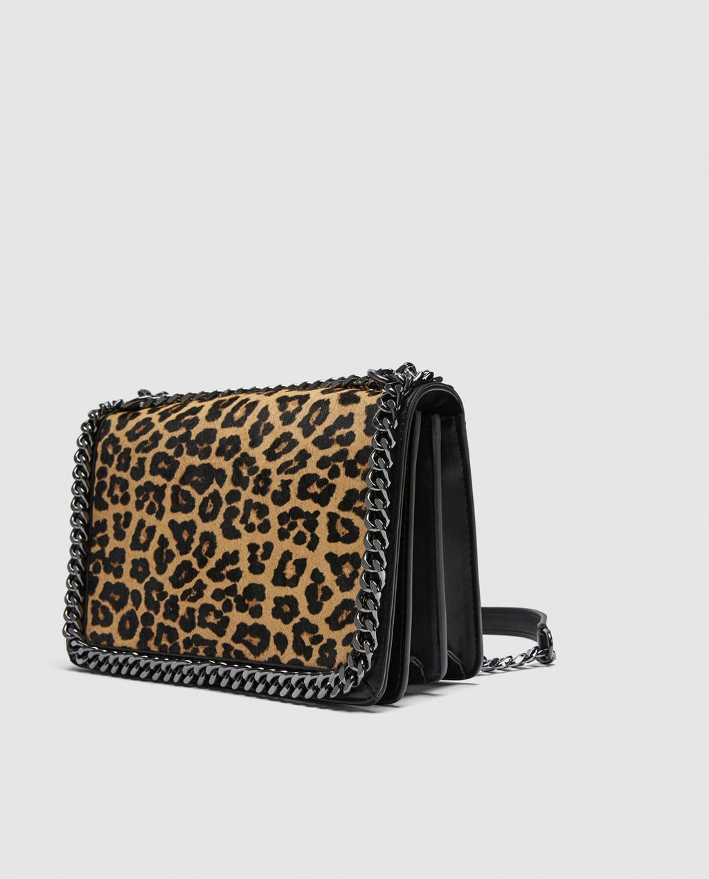 2af4410921b8 Image 4 of LEOPARD PRINT LEATHER CROSSBODY BAG from Zara | Shopping ...
