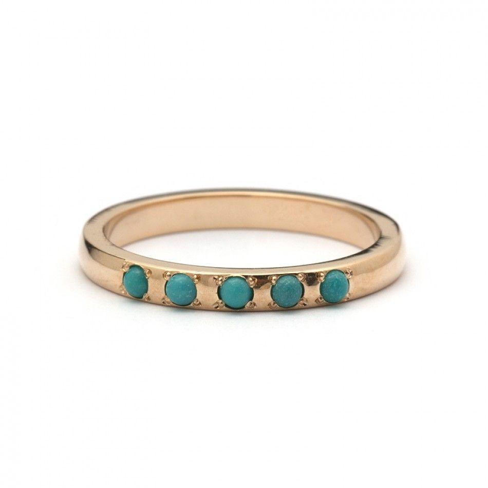 Niloofar Persian Turquoise Ring Turquoise wedding band Turquoise