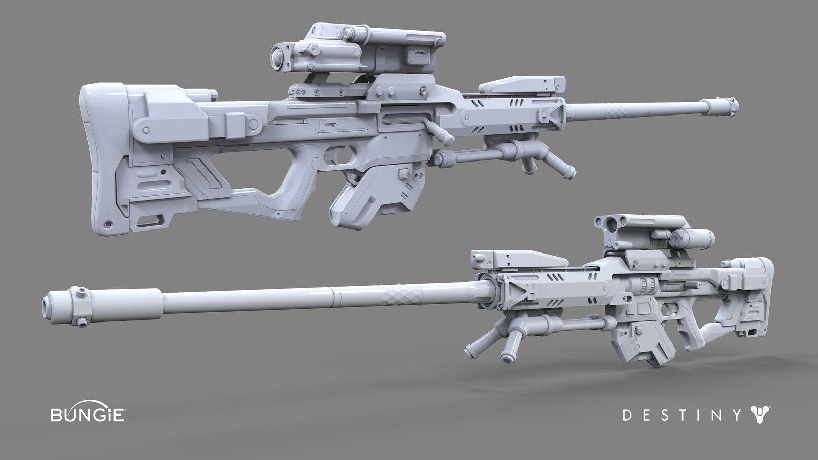 Destiny: Sniper Rifle C, David Stammel on ArtStation at http://www.artstation.com/artwork/destiny-sniper-rifle-c