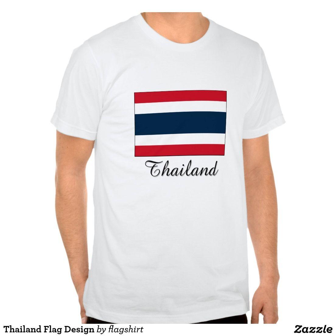 Zazzle t shirt design size - Thailand Flag Design Tee Shirts