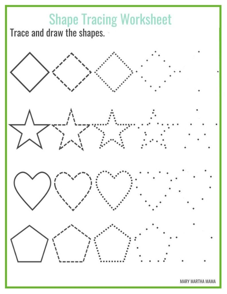 Shapes Worksheets For Preschool Free Printables With Images