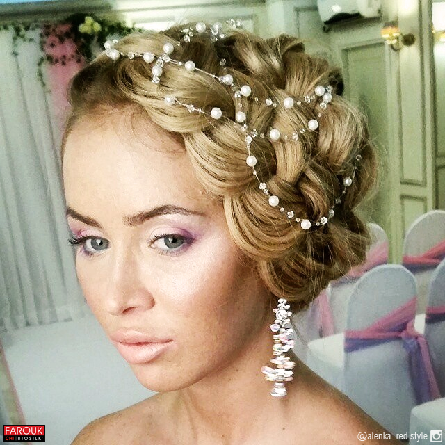Breathtaking bridal braids via Russia's alenka_red.style with #CHIHaircare #weddinghair
