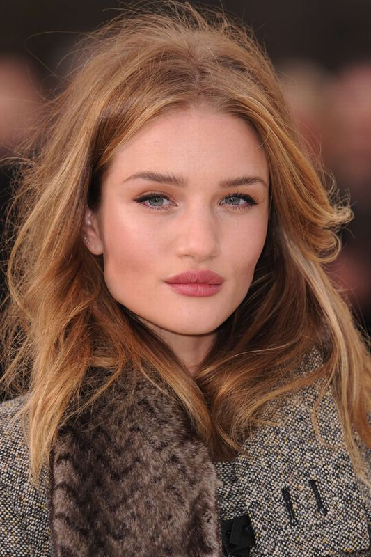 Rosie Huntington-Whiteley hair and make up
