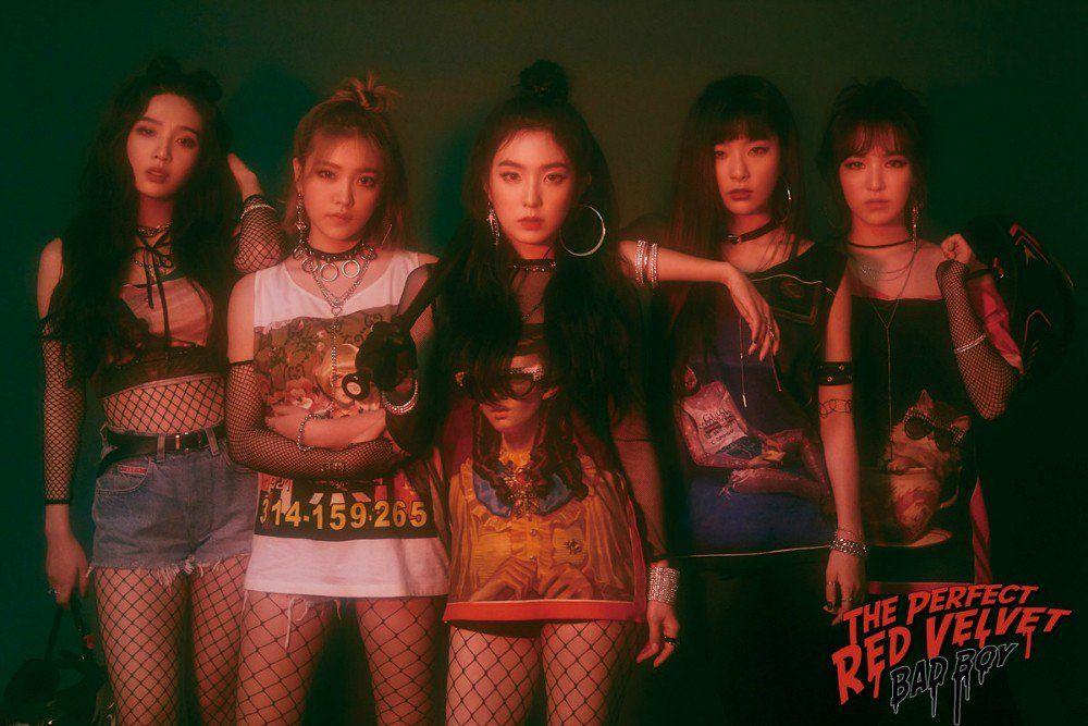 Red Velvet Drop Group Teaser Images For Bad Boy Red Velvet Photoshoot Red Velvet Seulgi Red Velvet