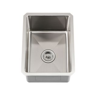 Schon Undermount 16 Gauge Stainless Steel Radius Corner Single Bowl Bar Sink  (Stainless Steel), Silver, Size Less Than 18