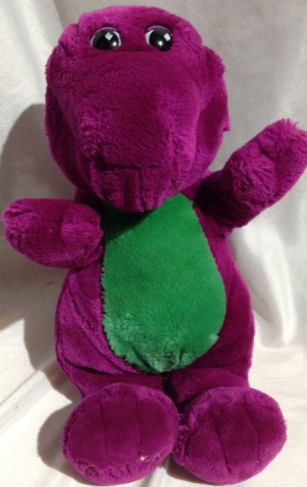 Vintage 1992 plush stuffed animal Barney dinosaur Backyard ...