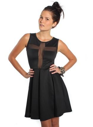 #LBD #Sheer #Cross #Cutout #Dress #Chic #Bold #Style #UsTrendy