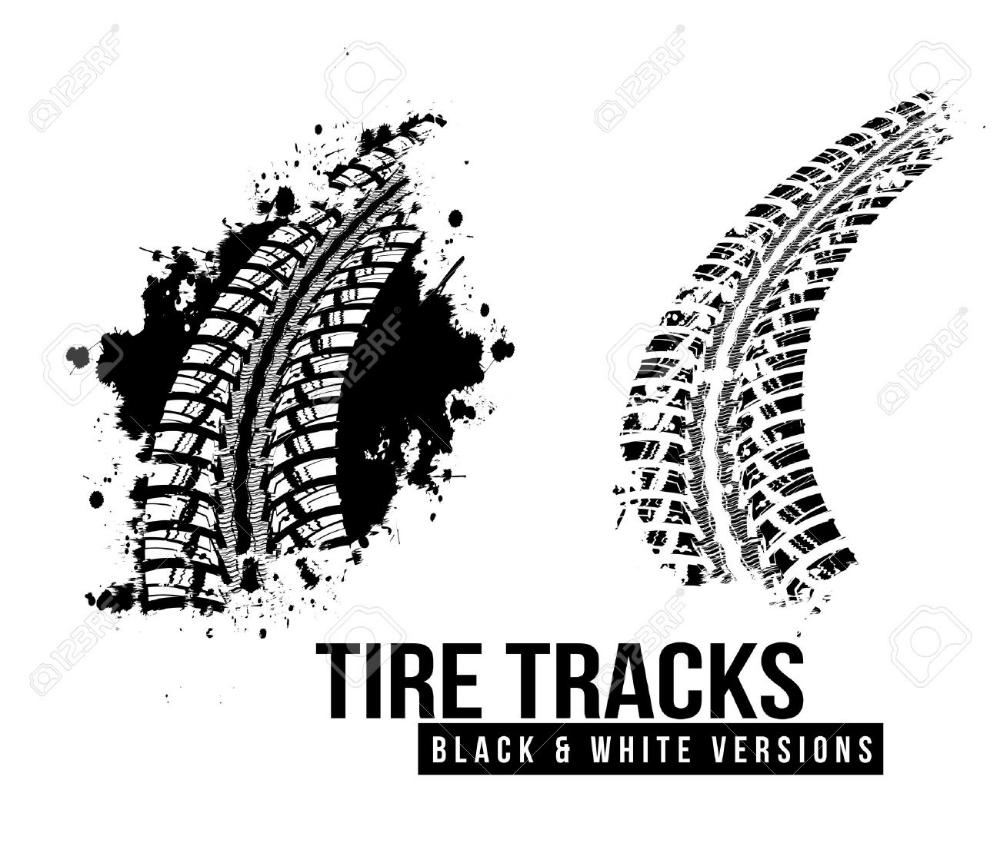 Tire Track Background Tire Tracks Vector Artwork Tire