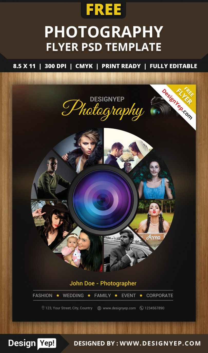 Free Photography Flyer Psd Template