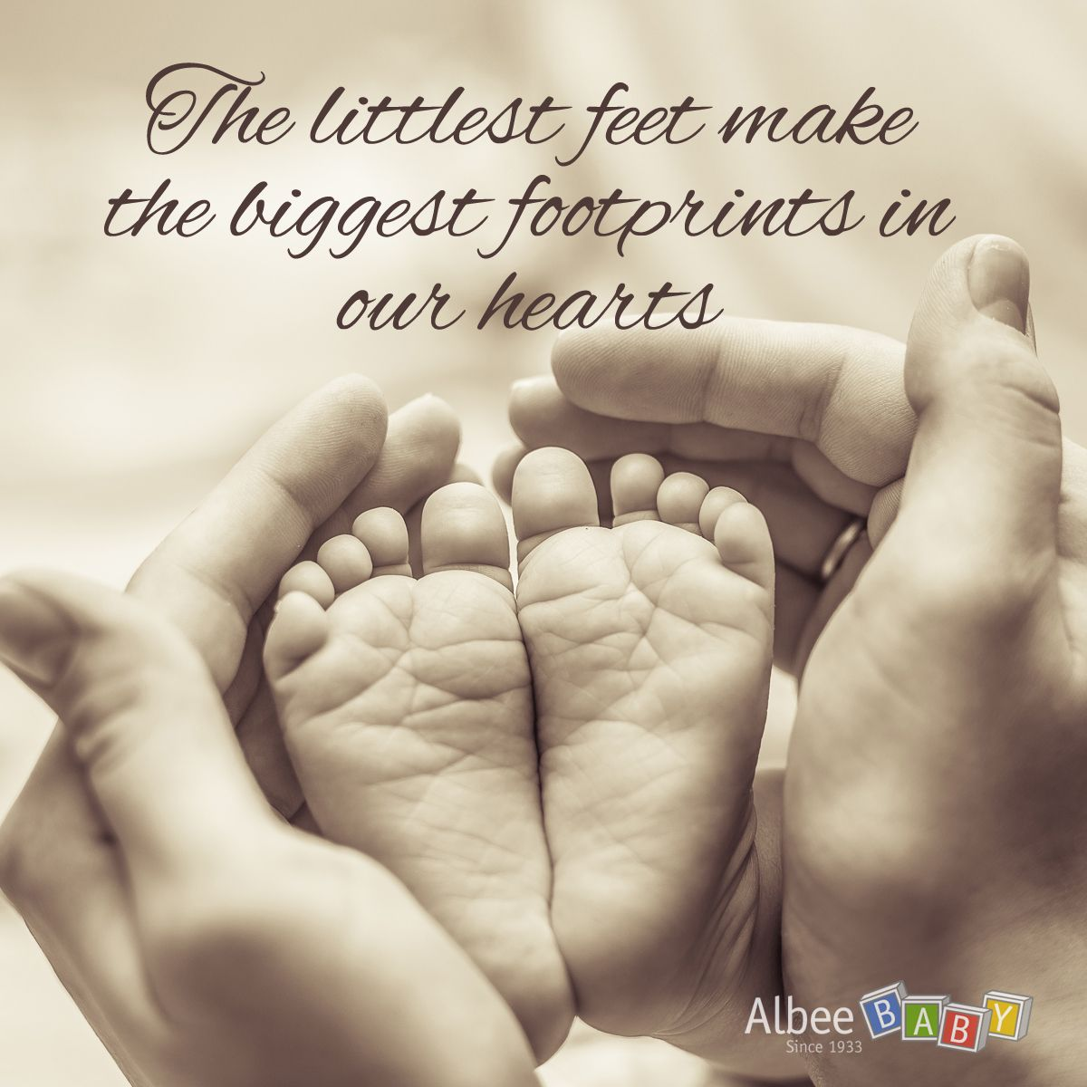 """Perfect quote for your little ones. """"The littlest feet make the biggest footprints in our hearts"""""""