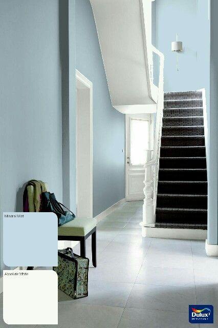 Mineral Mist And White Hallway Ideas In 2019 Hallway