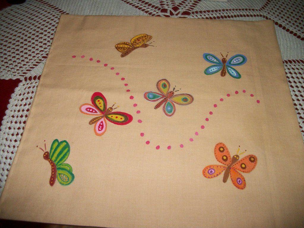 Cojines de tela aprender manualidades es facilisimo - Cojines pintados en tela ...