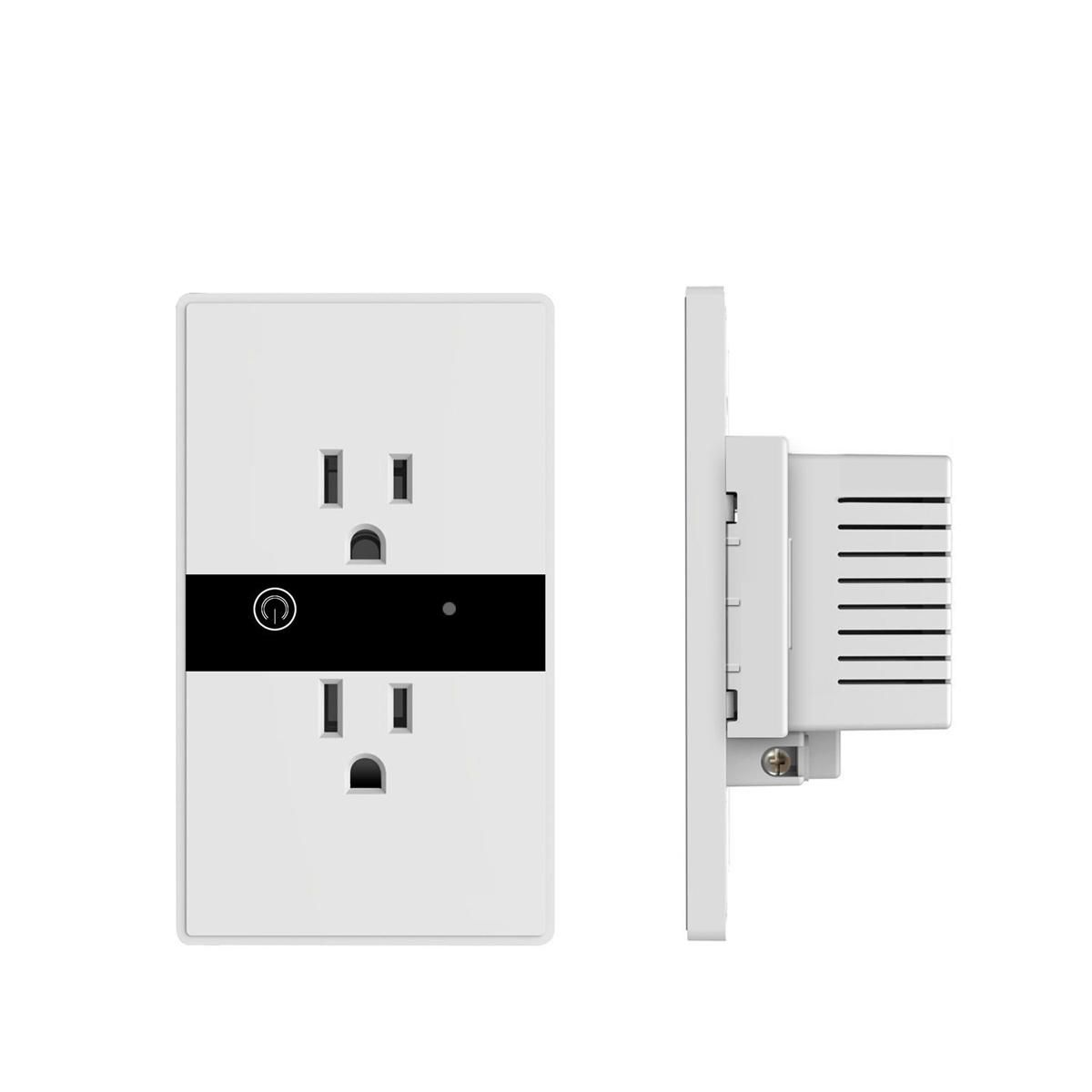US$17.50] Smart WIFI Wall Outlet Plug Duplex Receptacle Switch ...
