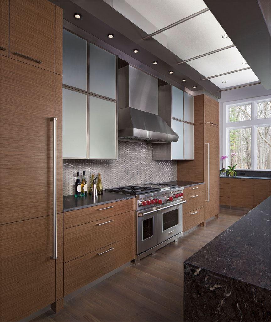 Horizontal Cabinet Detail Where Counter And Fridge Meet Corey Creek Contemporary Kitchen Gal Luxury Appliances Contemporary Kitchen Kitchen Furniture Design