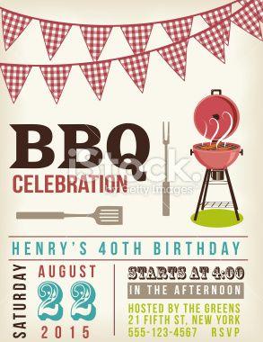 Retro BBQ Invitation Template There Are Two Rows Of Checkered Ref - Free bbq invitation template