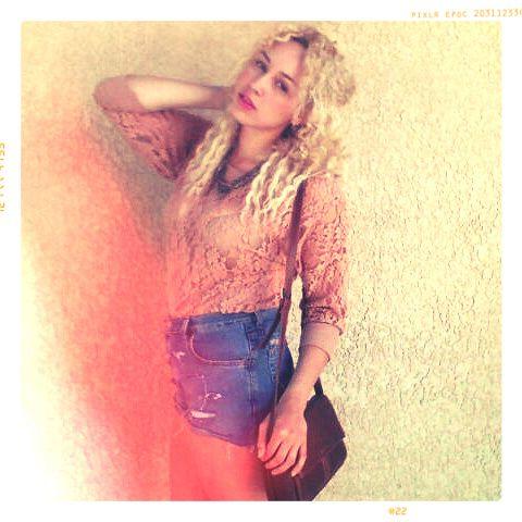 curly blonde hippie