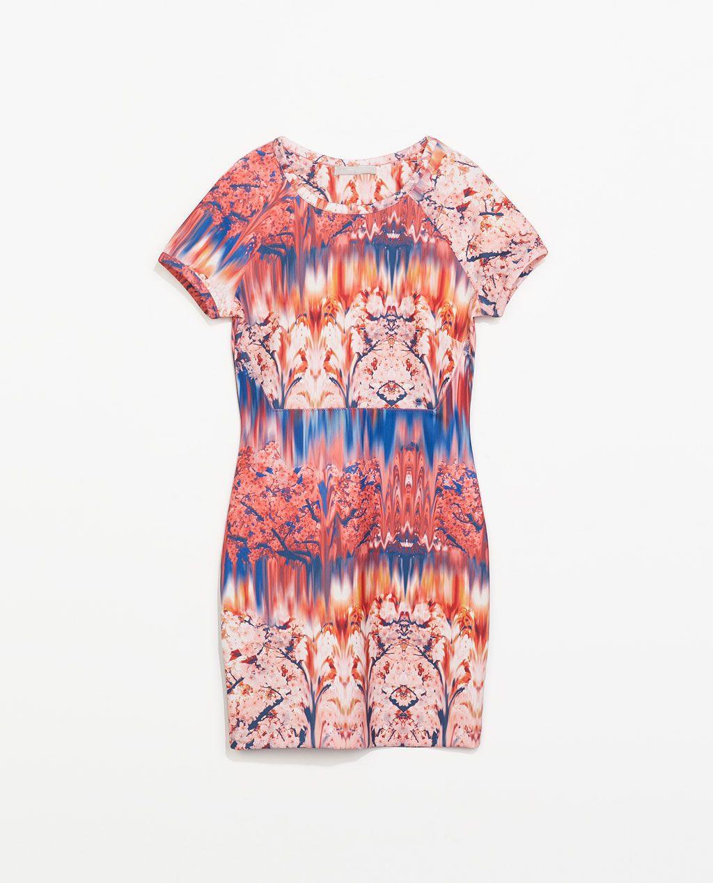 a30c0eb6443f Image 7 of NEOPRENE PRINTED DRESS from Zara