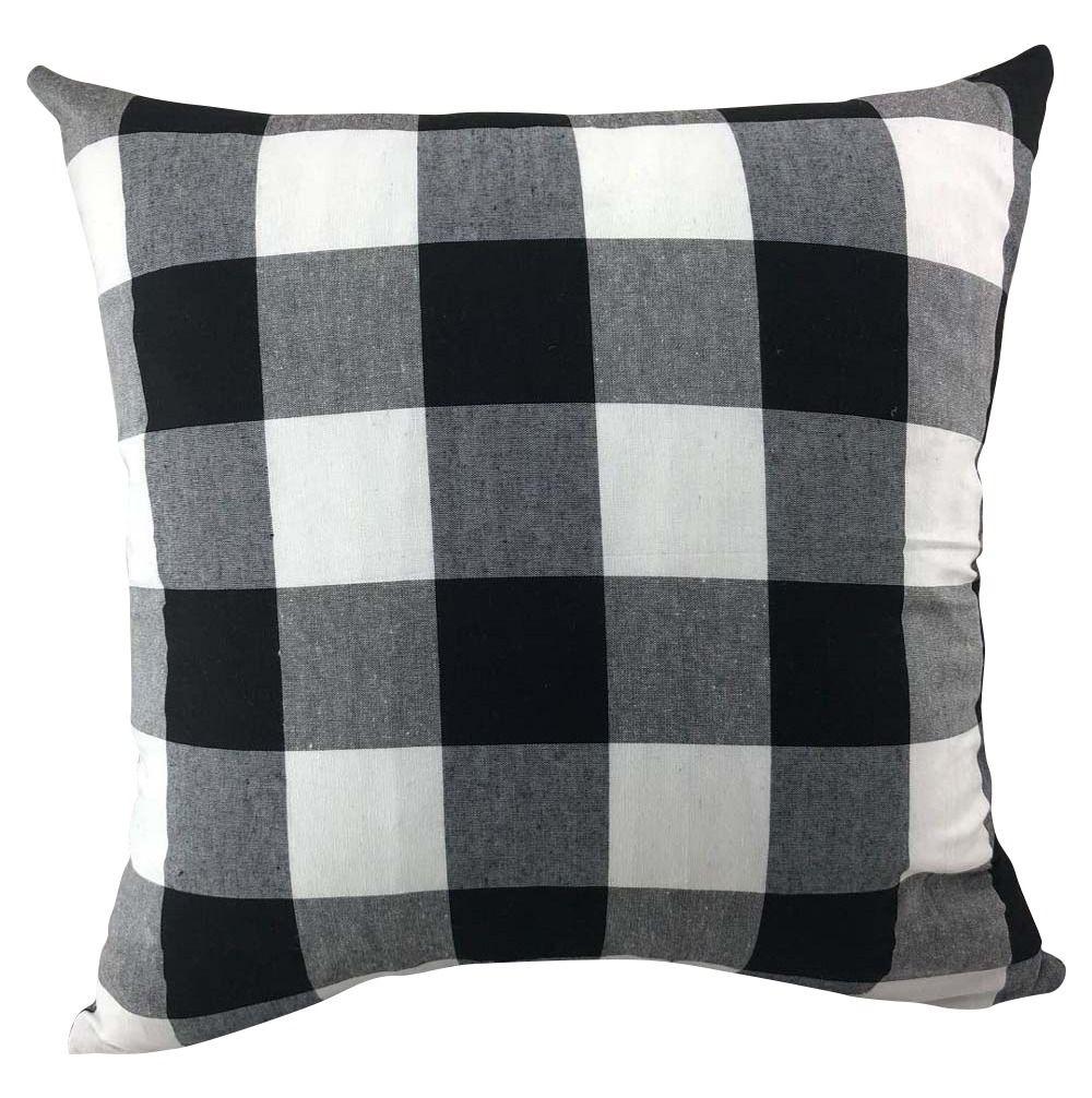 White Black Buffalo Check Pillow Cover Buffalo Check Pillows Pillow Covers Pillows