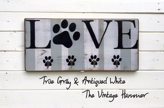 "Engraved Wood 12/"" Cream Dog Cat Pawprint Paw Print Live Love Rescue Sign"