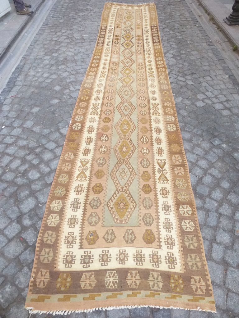 Hallway carpet runners sold by the foot   feet Long Ethnic kilim Runner rug  Kilim runner