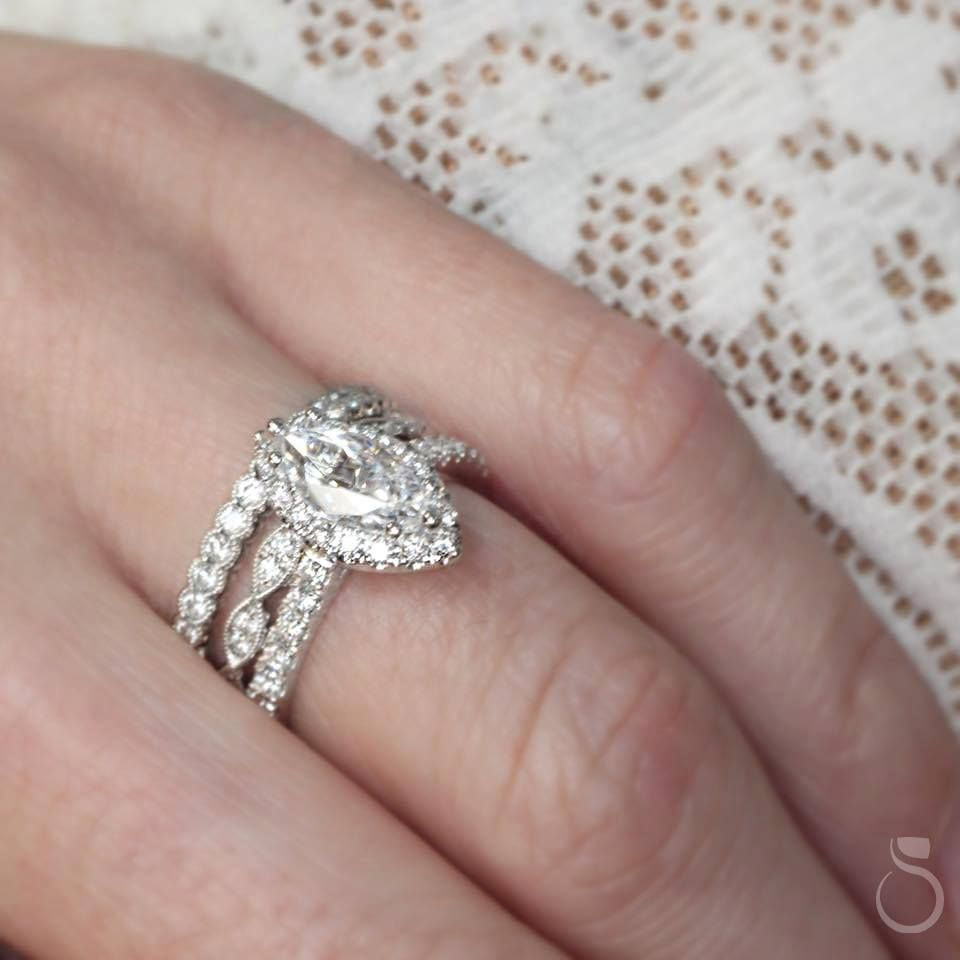 This dazzling marquise-cut engagement ring from Sylvie will be ...